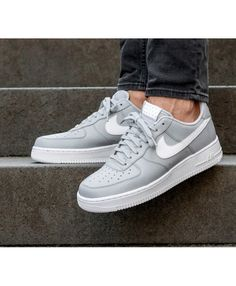 online store a35ba 4a6ee Nike Air Force 1 07 Shoes In Wolf Grey White