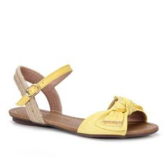 Sandalia Rasteira Cravo E Canela 88015  - Amarelo Summer Legs, Pumps, Heels, Huaraches, Wedge Sandals, Wedges, Flats, Female, Princess