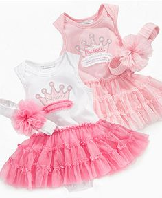 First Impressions Baby Set, Baby Girls Princess Tutu Dress and Headband - Kids -