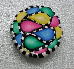 Polymer Clay Cane Pastel Teardrops | Flickr: Intercambio de fotos