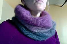 Ombre Cowl Hood by Hilary Carr
