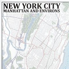 A map of New York City composed solely of type. This is awesome...