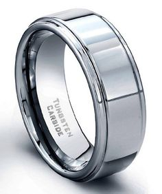 TOPSELLER! 8 mm Tungsten Carbide Ring High Polis... $19.99