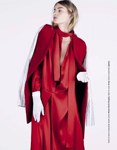 visual optimism; fashion editorials, shows, campaigns & more!: red: hanna verhees by naomi yang for grazia france 10th october 2014