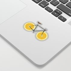 Zest Sticker by Florent Bodart / Speakerine - White Background - Cute Laptop Stickers, Tech Accessories, Cool Designs, Personal Style, Just For You, Creative, Stuff To Buy, Notebooks, Weird