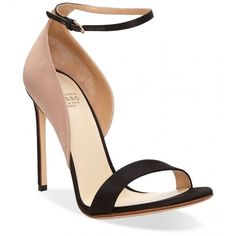 Francesco Russo Raso Strap Heel ($875) ❤ liked on Polyvore featuring shoes, pumps, leather high heel pumps, strappy heel shoes, ankle strap shoes, high heel shoes and ankle strap high heel pumps