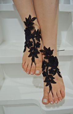 90 real crystal beach shoes, bridal sandals, wedding bridal, barefoot sandles, black accessories, wedding shoes, summer wear, handmade