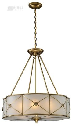 Artistic Home & Lighting Preston 6 Light Pendant In Brushed Brass Bathroom Light Fixtures, Pendant Light Fixtures, Ceiling Pendant, Light Pendant, Ceiling Lights, Elk Lighting, Home Lighting, Lighting Ideas, Lamp Light