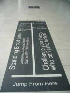Wayfinding and Typographic Signs - standing-broad-jump (Licensed photo by Thivy from Singapore)