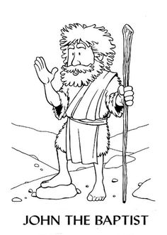 Zacharias and elizabeth coloring pages bible helps for John the baptist craft for kids