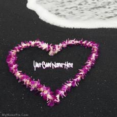 Hawaiian Lei on the famous black sands of The Big Island San Valentin Ideas, Aloha Hawaii, Hawaii Life, Hawaii Beach, Famous Black, I Love Heart, Heart Pics, Black Sand, Leis