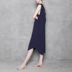Signature Reversible Maxi Dress - Navy