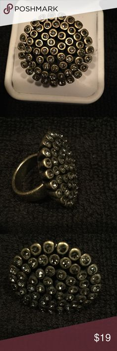 Chico's Statement Ring Chico's Statement Ring, Bronze tone with Rhinestones, size 7 Chico's Jewelry Rings