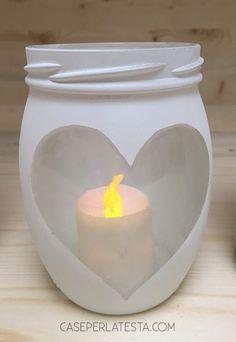 mason jar + spray paint + tealight= hygge light!