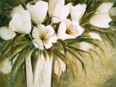 Neu in meiner Galerie bei OhMyPrints: Weiße Tulpen in Vase