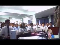 Conversatorio de Rose Marie Tapia con los estudiantes del  Colegio Rodol...