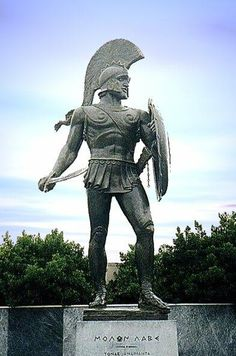 Leonidas. The Spartan general who held back the entire Persian army at Thermopylae with '300' soldiers. As featured in the movie.