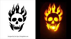 10 Free Printable Scary Pumpkin Carving Patterns, Stencils & Ideas 2014