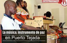 El instructor de música de Comfacauca, Freddy Balanta Molina, comparte su experiencia como pedagogo y transformador educativo en el Programa Jornada Escolar Complementaria de Comfacauca en el municipio de Puerto Tejada.[http://www.proclamadelcauca.com/2014/09/la-musica-instrumento-de-paz-en-puerto-tejada.html]