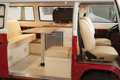Dubteriors - Quality Interiors for VW Camper Vans Interior Kombi, Volkswagen Bus Interior, Van Interior, Interior Design, Interior Ideas, Combi Vw T2, Combi Ww, Truck Camper, Vw T2 Camper