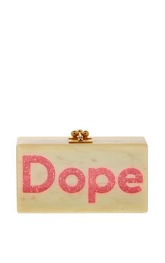 Jean Dope In Natural Horn And Pink Crystalina by Edie Parker - Moda Operandi