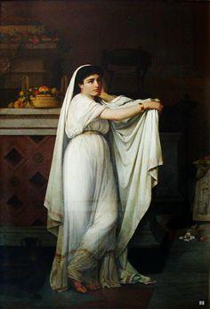 A Vestal. 1867. Giovanni Mochi Pinx. Italian 1831-1892