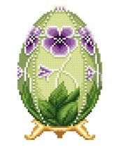 POL: Pansy Faberge Easter Egg by Solaria Gallery