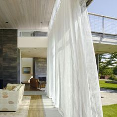 Outdoor Curtains Design, Pictures, Remodel, Decor and Ideas - page 10 Outdoor Curtains, Outdoor Walls, Outdoor Decor, Decks And Porches, Curtain Designs, Wall Tiles, Indoor, Living Room, Moroccan