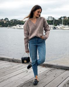 Light layers, bare legs, knits, ruffles, polka dot print and denim, what to wear now. The transitional weather looks I am loving.