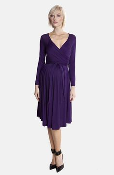 Olian Jersey Maternity Wrap Dress available at #Nordstrom