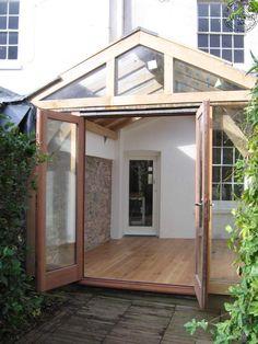 External view of conservatory doors