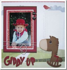 cowboy horse cricut layout