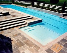 Lap pool Concrete Paver Coping Design Ideas, Pictures, Remodel, and Decor - page 33 Small Backyard Pools, Backyard Pool Designs, Small Pools, Outdoor Pool, Indoor Pools, Pool Landscaping, Lap Swimming, Swimming Pool Photos, Swimming Pool Designs