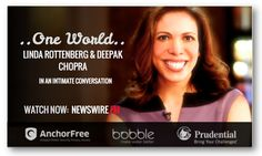 Author of #CrazyisaCompliment -  http://www.lindarottenberg.com/buy-book/ -  #LindaRottenberg & her organization #Endeavor have supported 600+ companies across 20 countries, generating 400,000 jobs, with over $7 billion in revenues. Watch her #ONEWORLD conversation with #DeepakChopra now on #NEWSWIREFM: newswire.fm/one_world/videosub.php?guest_id=313