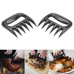 Bear Claws Tongs Barbecue Pork Shred Meat Fork Shredder BBQ Handler Servers Tool