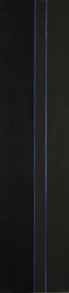 Barnett Newman 'By Twos' (1949) 66.25 x 16 Inches