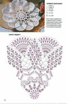 Picasa Web Albums beautiful diamond & fan crocheted doily in filet crochet. Crochet Edging Patterns Free, Crochet Doily Diagram, Crochet Doily Patterns, Crochet Mandala, Crochet Chart, Crochet Flowers, Tatting Patterns, Crochet Dollies, Crochet Diy