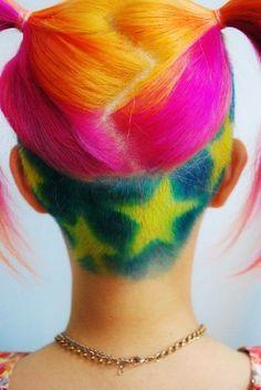 Hair Colour Inspiration - Rainbow Hair