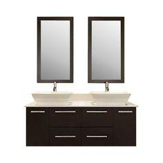 """60"""" Double Bathroom Vanity Set I"""