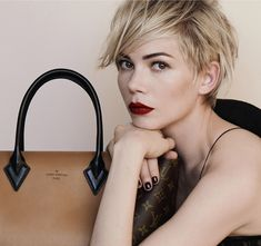 michelle williams hair | Michelle Williams Louis Vuitton: Hair, Makeup, Styling -- MAJOR.