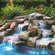 Having a pool sounds awesome especially if you are working with the best backyard pool landscaping ideas there is. How you design a proper backyard with a pool matters. Swimming Pool Waterfall, Swimming Pool Landscaping, Swimming Pools Backyard, Swimming Pool Designs, Garden Pool, Landscaping Ideas, Waterfall Landscaping, Rock Waterfall, Pool Water Features