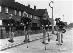 Spent many hours jumping on our Pogo Sticks.