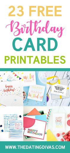 101 Free Birthday Printables