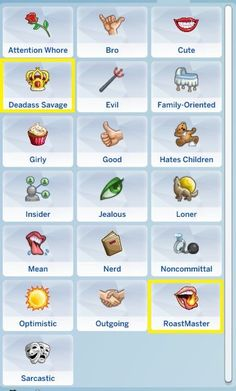 these don't actually lead to anything but they're cool traits