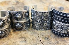 Herman & Edison Sandy Smith sterling silver cuff bracelets