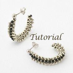 Beaded Earrings Tutorial Wireless Digital Download by JewelryTales, $5.00