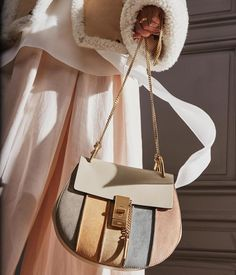 Light to the touch – our iconic Drew bag is reimagined in a patchwork of soft pastel shades for Fall 2016