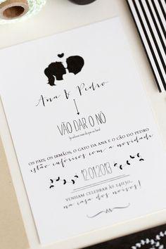 Silhouette Wedding Invitations by Branco Prata via Oh So Beautiful Paper (13)