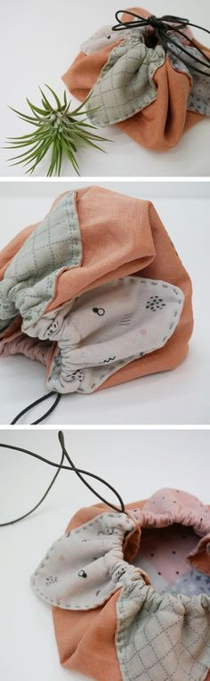 A petal bag (also known as an origami bag) is the easiest and quickest gift bag you'll ever make  http://www.handmadiya.com/2016/06/little-drawstring-pouch.html