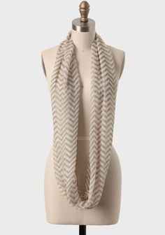 Parsons Chevron Circle Scarf | ShopRuche | great winter craft idea; will have to give this a go come fall...